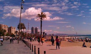 imagen barrio barceloneta playa